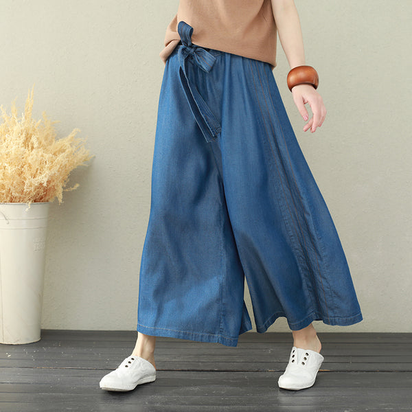 Korea Style Loose Wide-leg Pants Summer Casual Women Trousers Q2668