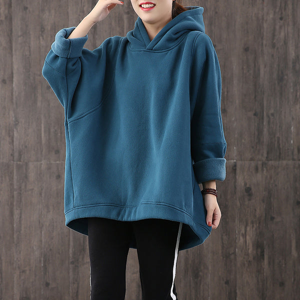 Women Loose Plus Size Hoodie Fleece