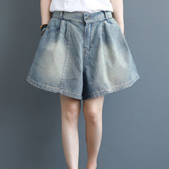 Summer Blue Casual Denim Shorts Women Loose Cowboy Short Pants K3060