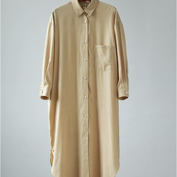 Women Button Front Shirt Dress