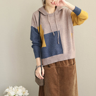 Vintage Hoodie Loose Sweater Women Casual Tops Q1915