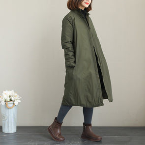 Korea Style Simple Thick Long Down Coat For Women Q2050