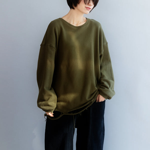 Loose Army Green Fleece For Women Q7562