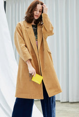 Women's Loose Warm Corduroy Coat W8862