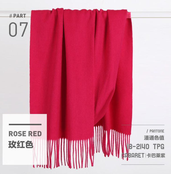 Pure Colors Fahion Wool Winter Warm Long Scarf Width Shawl Women Accessories J1102A - FantasyLinen