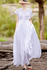 Women's Casual Linen Pure Color Waist Drawstring Dress