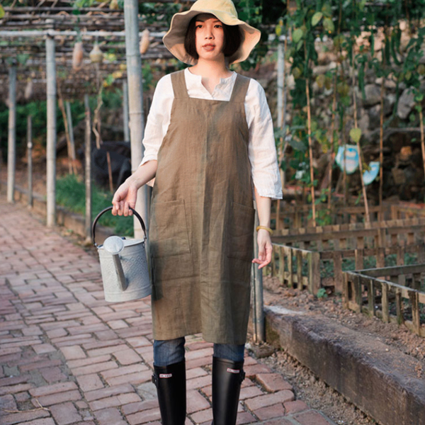 Linen Vest Type Apron Restaurant Milk Tea Shop Florist Home Kitchen Workwear