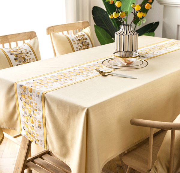 Cotton Linen Embroidered Table Tablecloth Wedding Tablecloth Custom Size Tablecloth