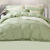 Comfortable Pure Color Soft Linen Bedding Set