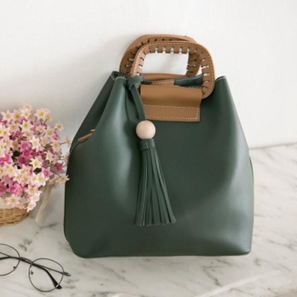 Simply Leather Bag Women Tote D930A - FantasyLinen