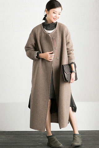 Simply Wool Women Long Coat Winter Clothes W5362B