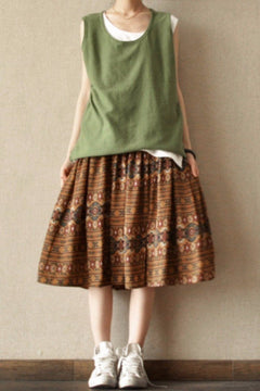 Summer Bohemia Chiffon Skirt Casual Women Clothes L0021