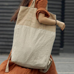 Big Linen Tote Bags For Women Backpack