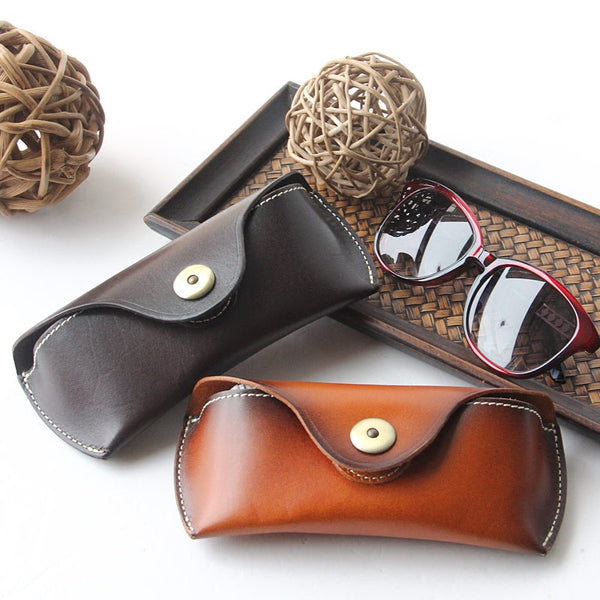 Personalized Groomsman And Bridesmaid Gifts Reading Leather Glasses Case, Sunglasses Case, Hard Eyeglass Case, Glass Box