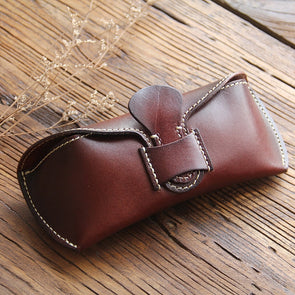 Cute Reading Leather Glasses Case, Sunglasses Case, Eyeglass Case, Glass Box