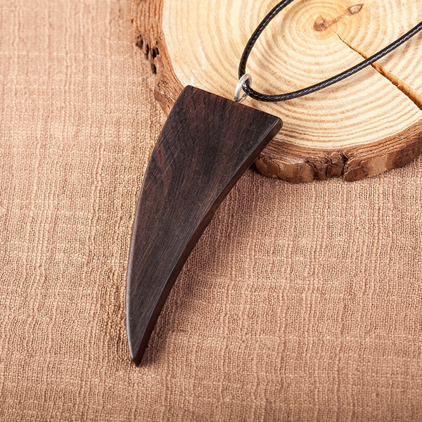 Handmade Fashion Ox Horn Pendant Metal Wood Long Necklaces For Women