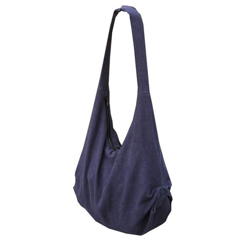 Blue Fashion Handmade Linen Shoulder Bag Crossbody Women Bags
