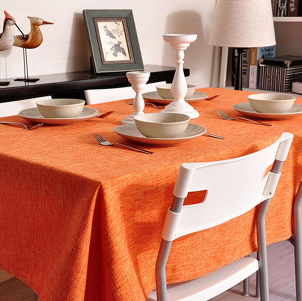 Linen Tablecloth In Various Colors. Round. Square. Rectangular Table Linens. Custom Linen Fabric Tablecloth