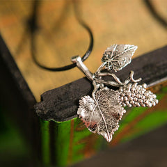 Art Leaf Vintage Sweater Necklace Women Accessories E113A