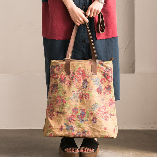 Flower Leisure Canvas Tote Bag