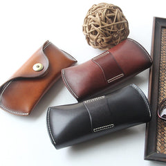 Reading Leather Glasses Case, Sunglasses Case, Hard Eyeglass Case, Glass Box