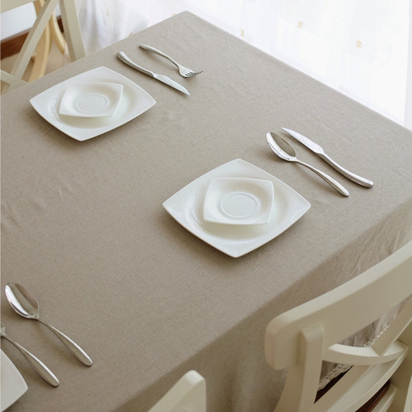 Natural Linen Tablecloth Pure Linen Table Cloth Wedding Tablecloth Rustic Table Cloth