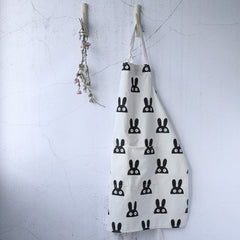 Simple Japanese Style Cotton Linen Parent-child Apron A18022