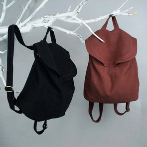 Handmade Vintage Cotton Linen Big Bag Backpack Women Bag School Bag S012
