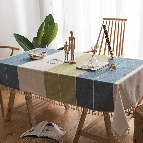 Cotton Linen Tablecloth.Custom Tablecloth.Kitchen Decor.Handmade Tablecloth