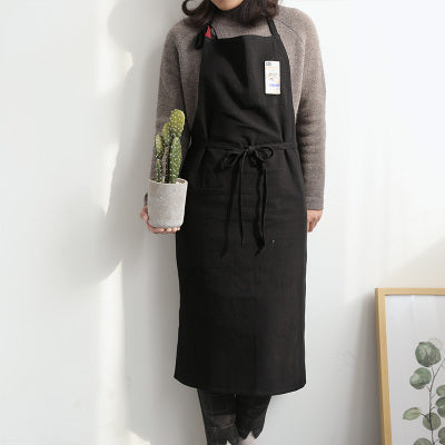 Japanese Style Cotton Linen Apron Waitress Bar Bakery Painter Florist Gardener Workwear A18024