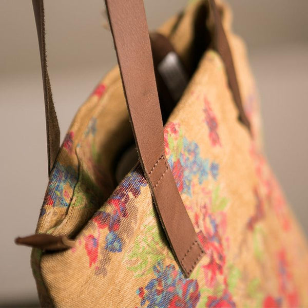 Flower Leisure Canvas Tote Bag - FantasyLinen