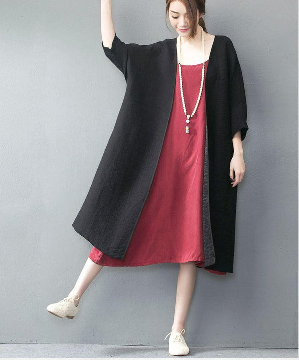 Three Colors Sexy Soft Condole Belt Long Dress - FantasyLinen
