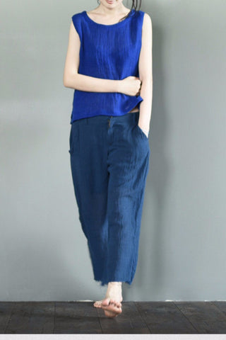 Torn Edges Wide-legged Pants LR707