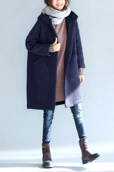 Thickening Cold Winter Jacket With Hood Warm Oversize Long Coat For Women W1002