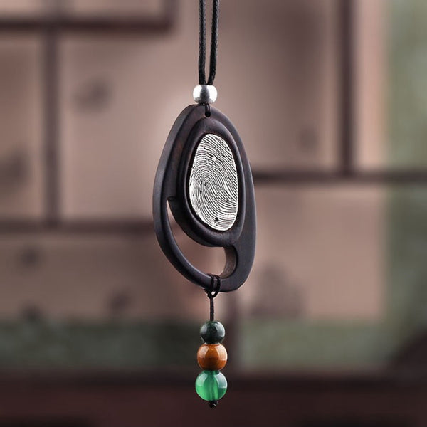 Pendant Retro Agate Wax String Metal Wood Necklaces For Women