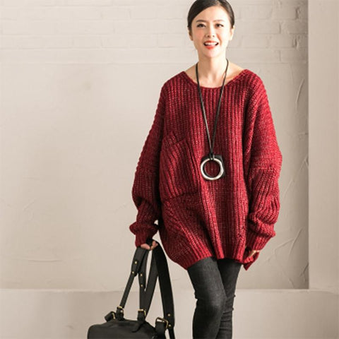 Yarn Long-sleeved  Sweater Winter Women Clothes M912B