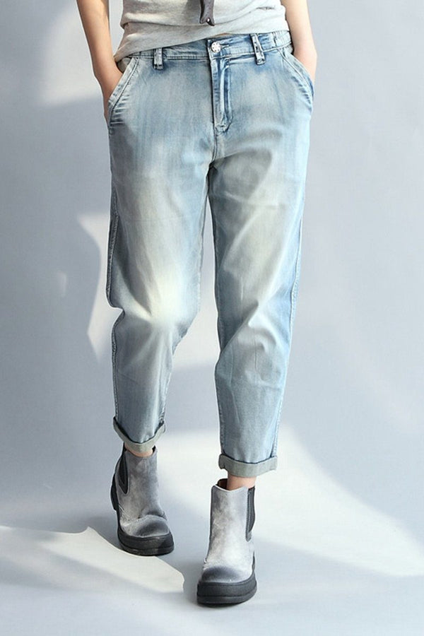 Light Blue Harem Fashion Vintage Cowboy Women Clothes P0501 - FantasyLinen