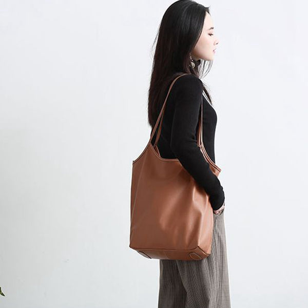 Casual Leather High Capacity Shoulder Bag Fashion Bag B7053 - FantasyLinen