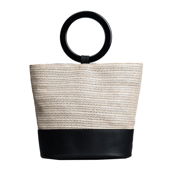 Summer Fashion Nature Straw Tote Bag Women Shoulder Bag B2851
