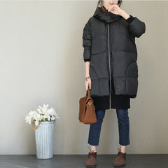 Korea Style Thicken Hoodie Down Coat For Women Q1766