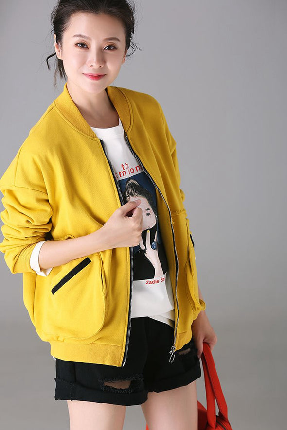 Casual Plus Size Cotton Coat Women Fashion Jacket W1898