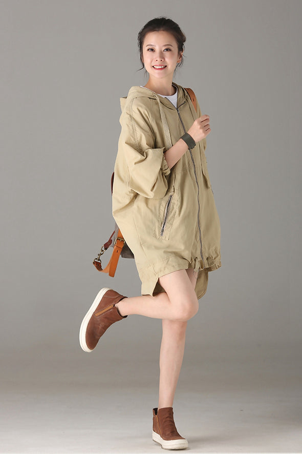 Casual Hoodie Coat Women Jacket For Autumn W5106
