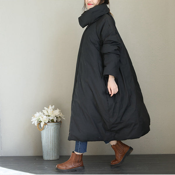 Loose Fashion Long Down Coat Women Warm Jacket Q1753