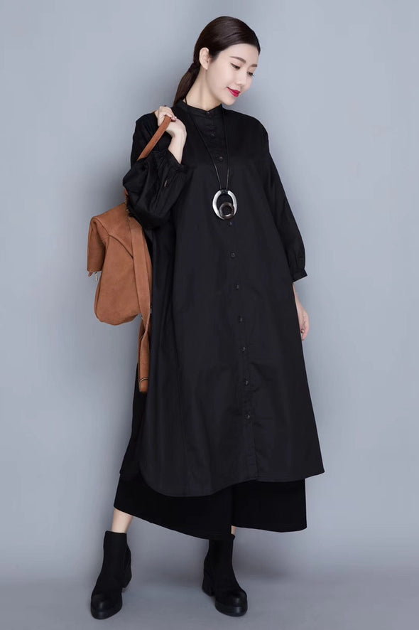 Casual Fall Cotton Wind Coat Women Loose Jacket 822