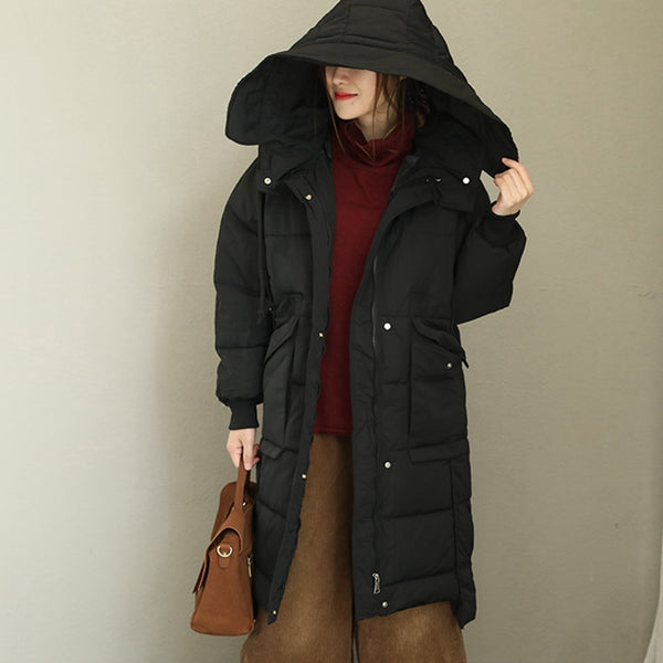 Winter Loose Long Thicken Coat Women Warm Tops Q1772