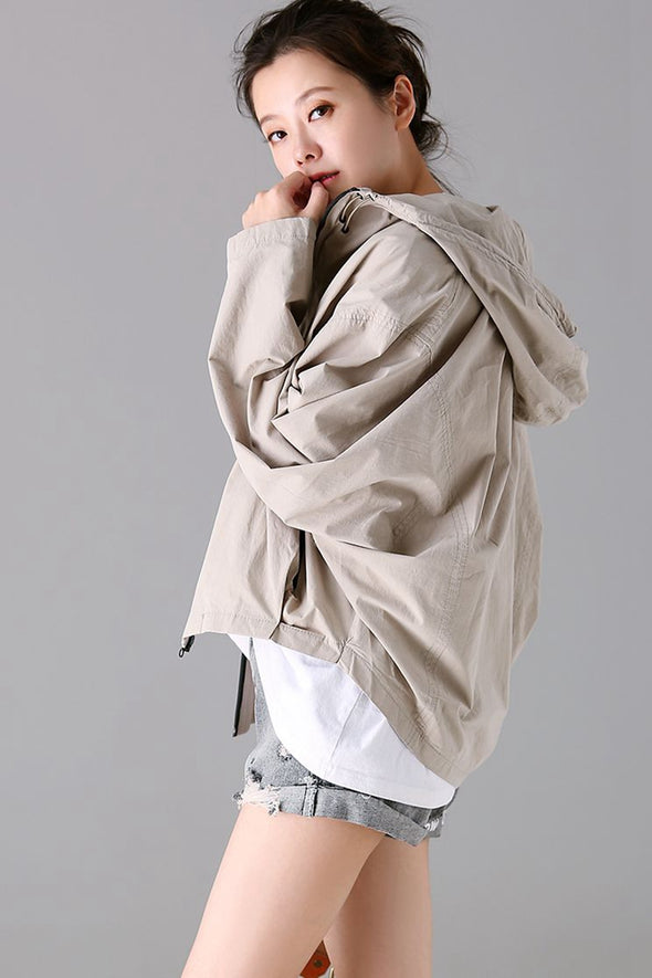 Casual Hoodie Cotton Coat Women Fall Jacket W1701