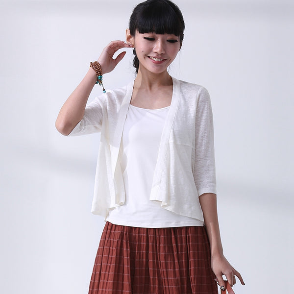 Summer Thin Linen Coat Women Lycras S0561