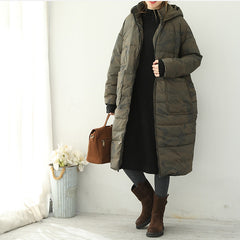 Korea Style Hoodie Thicken Down Coat Women Winter Jacket Q1832