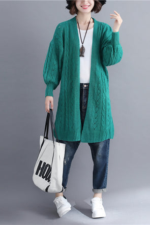 Korea Style Loose Knitted Coat Women Fall Jacket C3096
