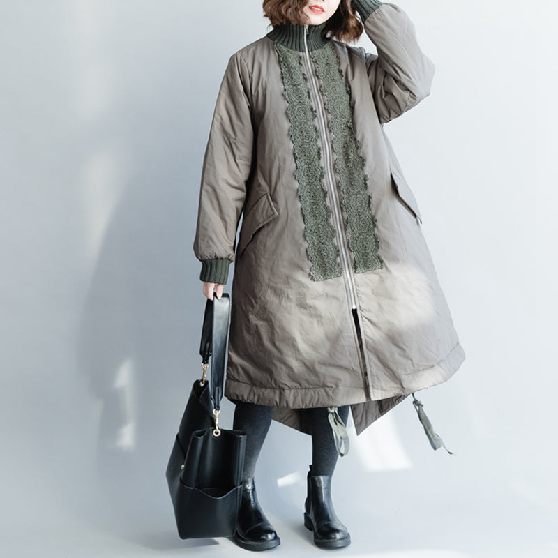 2060e799a05 Elegant Green A Line Long Casual Winter Coat For Women C1319 ...